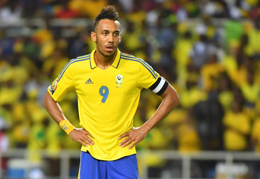 Gabon's Aubameyang during the 2017 Africa Cup of Nations (CAN) Group A match Cameroun vs Gabon held at Stade de l'Amitie in Libreville, Gabon on January 22, 2017. Photo by Christian Liewig/ABACAPRESS.COM
